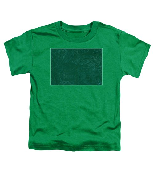 Moonfish Drawing Negative Green Chalk Toddler T-Shirt