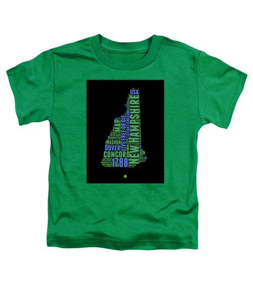 New Hampshire Word Cloud Map 1 Toddler T-Shirt