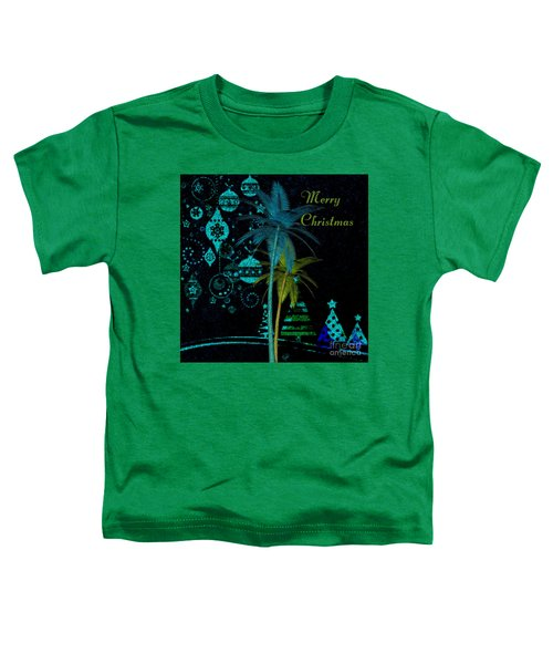 Palm Trees Merry Christmas Toddler T-Shirt