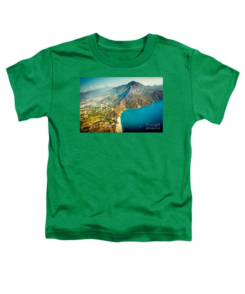 Paragliding Fly Above Laguna Artmif.lv Toddler T-Shirt