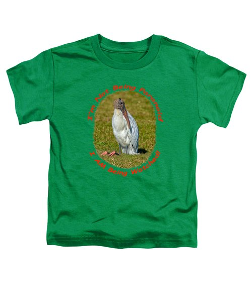 Paranoid Woodstork Toddler T-Shirt by John M Bailey