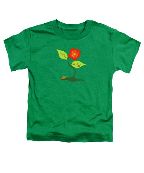 Plant And Flower Toddler T-Shirt by Gaspar Avila