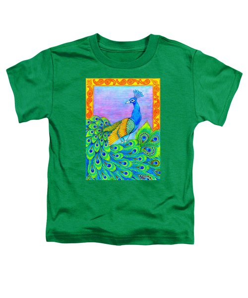 Pretty Peacock Toddler T-Shirt