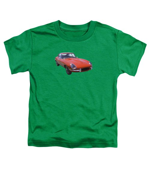 Red 1964 Jaguar Xke Antique Sportscar Toddler T-Shirt