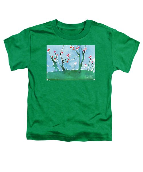 Red Berry Flowers Toddler T-Shirt