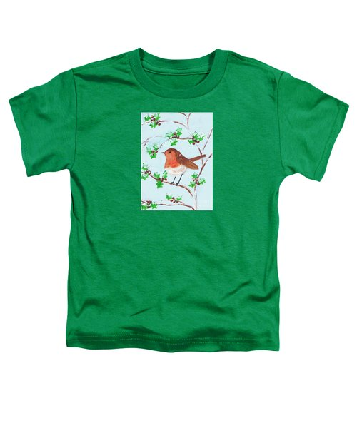 Robin In A Holly Bush Toddler T-Shirt