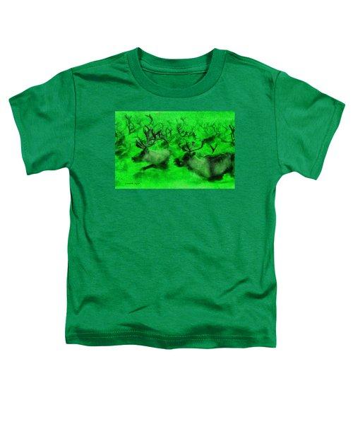 Running Deers Green - Da Toddler T-Shirt