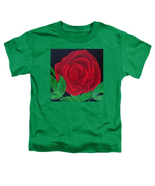 Solitary Red Rose Toddler T-Shirt