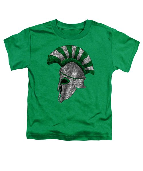 Spartan Helmet Toddler T-Shirt by Dusty Conley