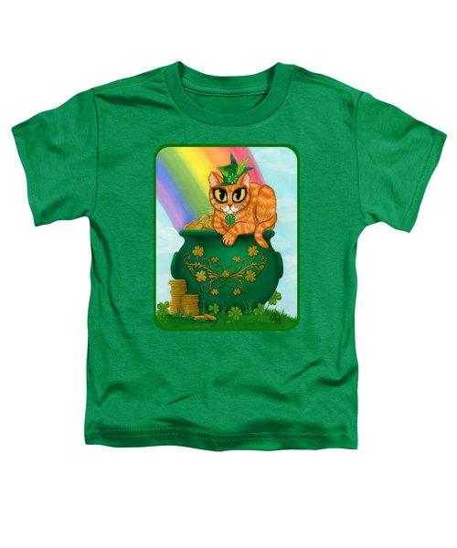 St. Paddy's Day Cat - Orange Tabby Toddler T-Shirt