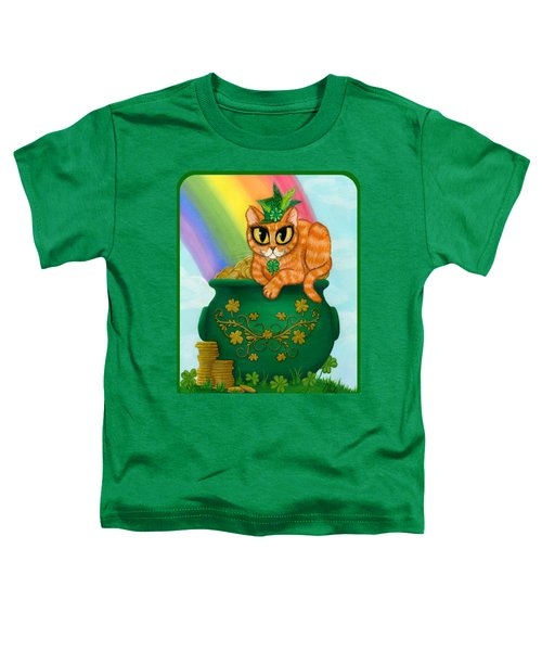 St. Paddy's Day Cat - Orange Tabby Toddler T-Shirt