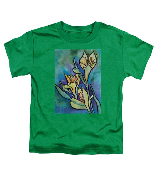 Stained Glass Flowers Toddler T-Shirt