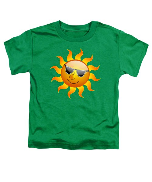 Sun With Sunglasses Toddler T-Shirt