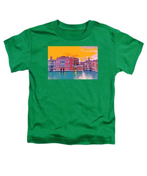 Sunset On The Grand Canal Venice Toddler T-Shirt