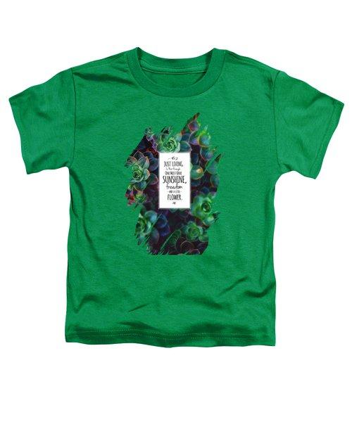 Sunshine, Freedom, Flower Toddler T-Shirt by Atelier Seneca