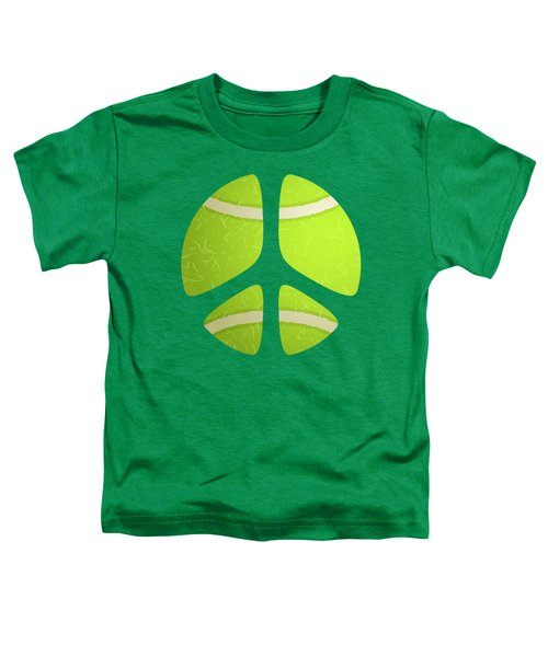 Tennis Ball Peace Sign Toddler T-Shirt by David G Paul