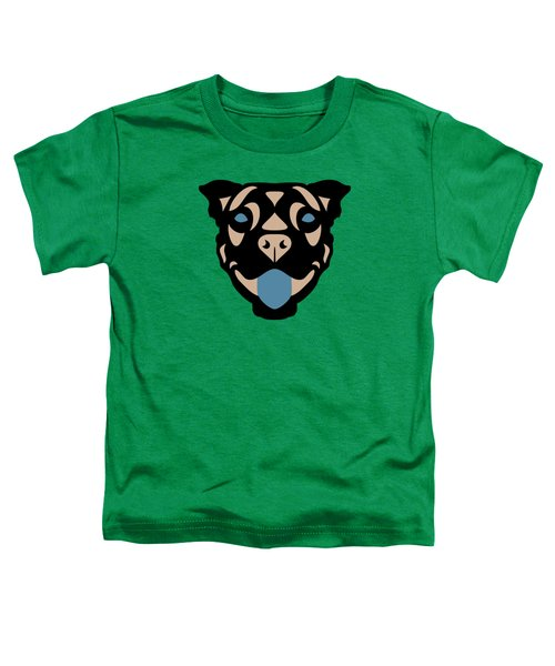 Terrier Terry - Dog Design - Greenery, Hazelnut, Niagara Blue Toddler T-Shirt