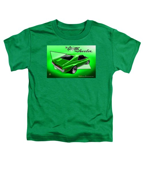 Toddler T-Shirt featuring the digital art The Atomic Javelin Rear by Doug Schramm