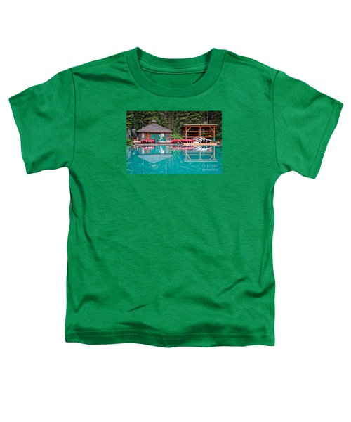 The Boat House At Emerald Lake In Yoho National Park Toddler T-Shirt