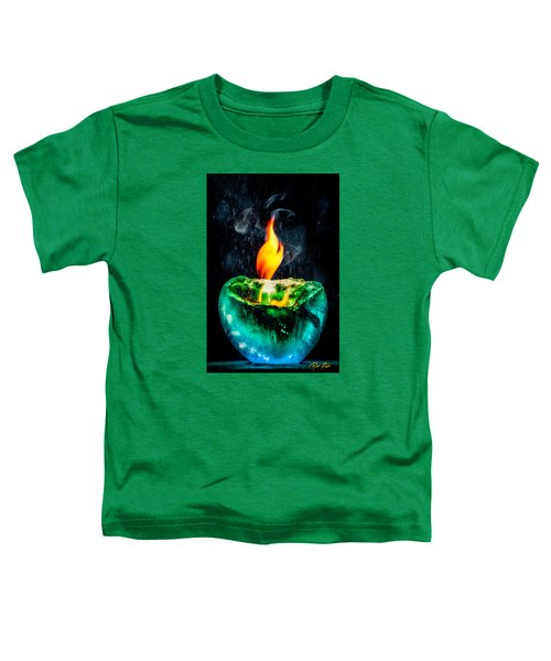 Toddler T-Shirt featuring the photograph The Winter Of Fire And Ice by Rikk Flohr