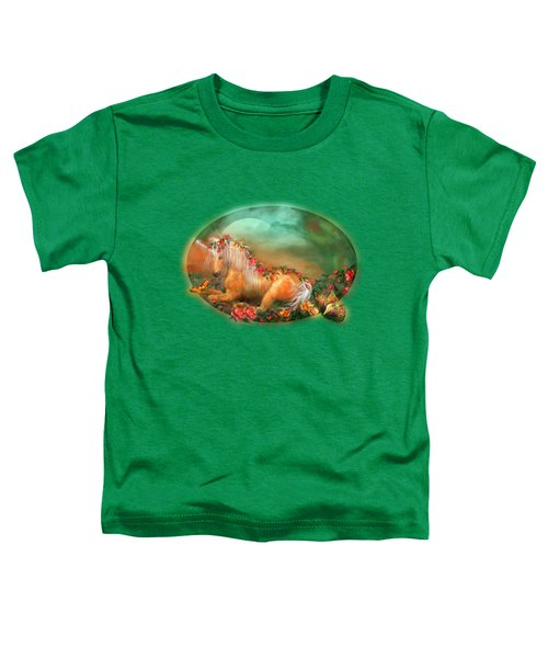 Unicorn Of The Roses Toddler T-Shirt