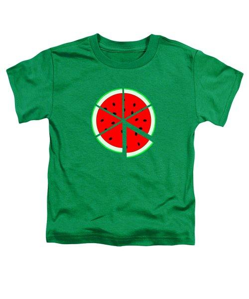 Watermelon Wedge Toddler T-Shirt by Susan Eileen Evans
