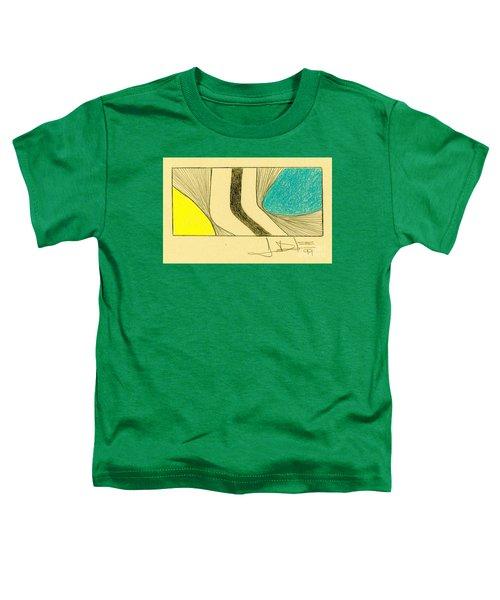 Waves Yellow Blue Toddler T-Shirt