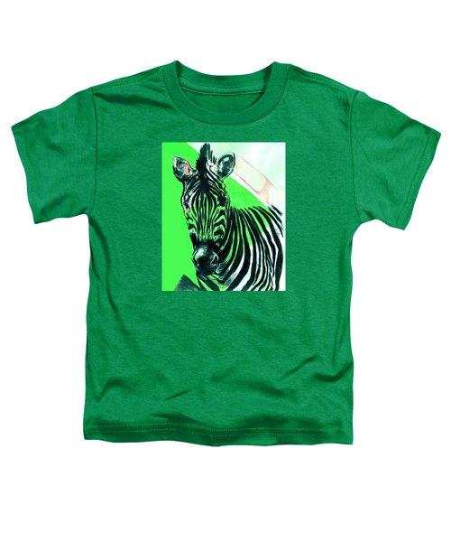 Zebra In Green Toddler T-Shirt