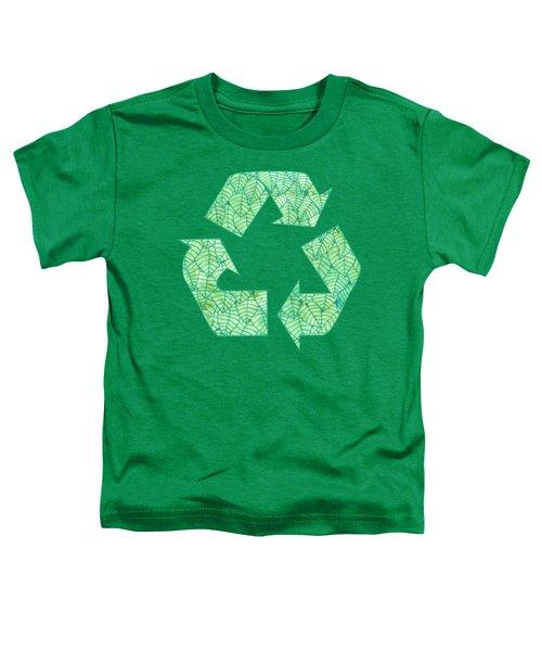 Green Foliage Pattern Toddler T-Shirt