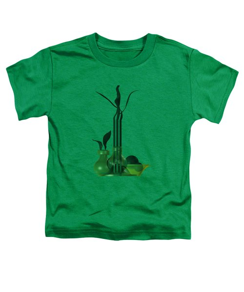 Green Still Life With Cool Elements Toddler T-Shirt