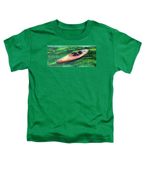Kayak In The Grass Toddler T-Shirt