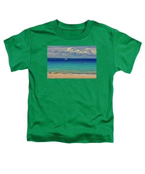 Lake Huron Sailboat Toddler T-Shirt