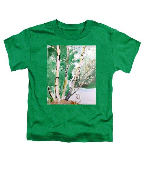 Silver Birch In Snow Toddler T-Shirt