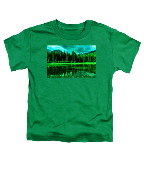 Stillwater Reflecting Trees And Mountains Toddler T-Shirt