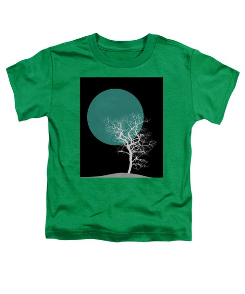 White Tree And Big Moon Toddler T-Shirt