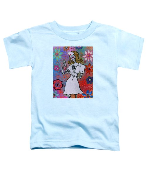Dia De Los Muertos Nurse Toddler T-Shirt