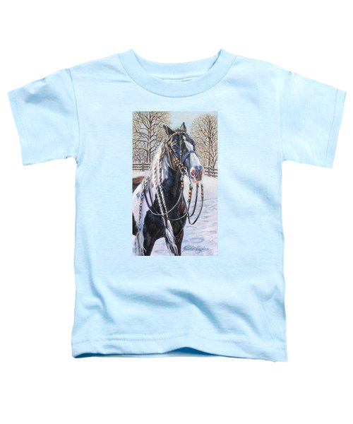 I'm Ready For The Ribbons Gypsy Vanner Horse Toddler T-Shirt