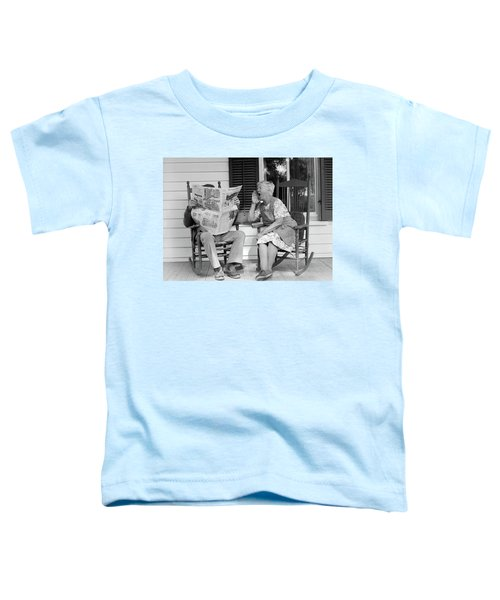 1970s Elderly Couple In Rocking Chairs Toddler T-Shirt