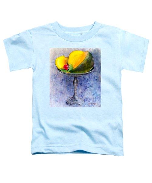 Cut Mango On Sterling Silver Dish Toddler T-Shirt