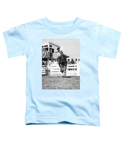 Riding A Bucking Bronco Toddler T-Shirt