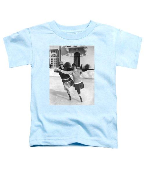 Society Ice Skating In Tuxedo, Ny Toddler T-Shirt