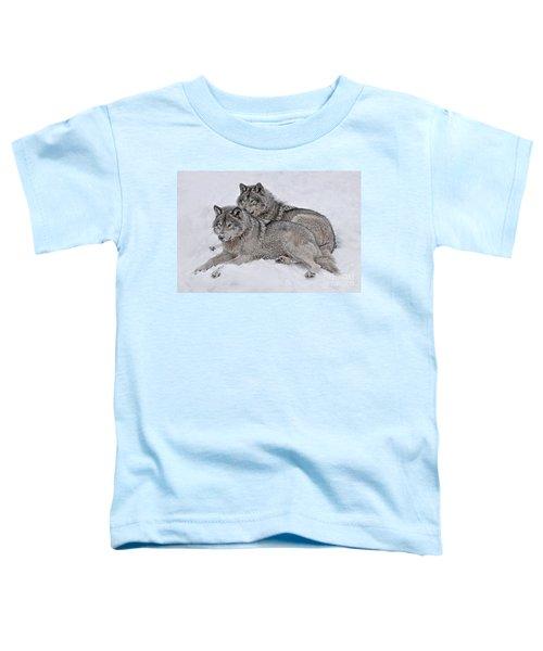 Timber Wolf Pair Toddler T-Shirt