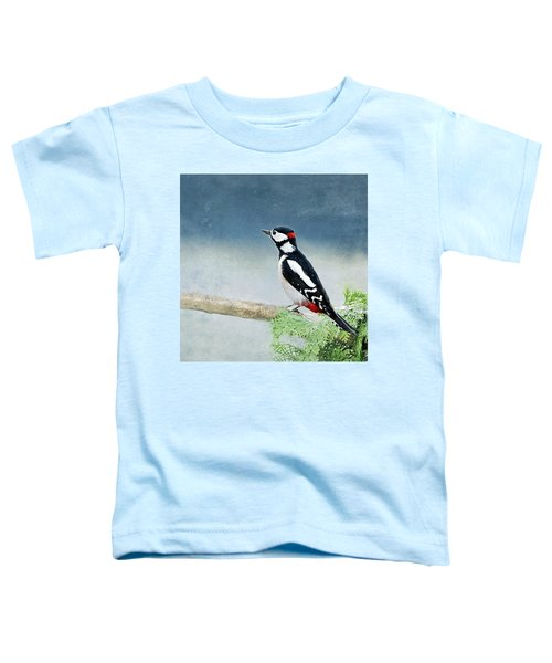 Woodpecker Toddler T-Shirt by Heike Hultsch