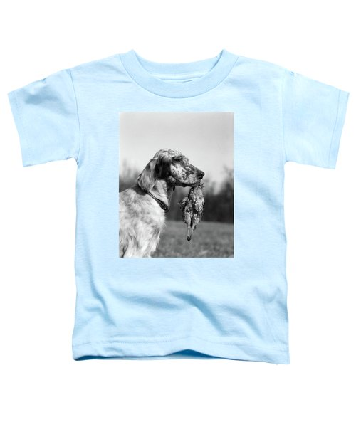 1920s English Setter Holding Retrieved Toddler T-Shirt