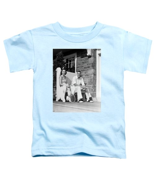 1930s Man And Woman Sitting On Porch Toddler T-Shirt