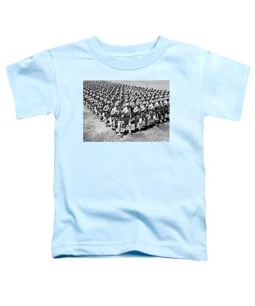 1940s Ranks And Files Rows Of World War Toddler T-Shirt