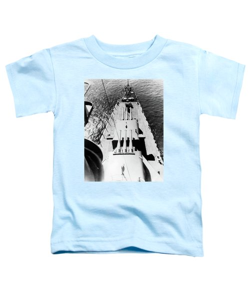 1940s Wwii Us Navy Ship Cruiser Bow Toddler T-Shirt