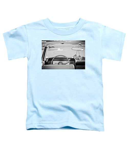 1967 Lincoln Continental Steering Wheel -014bw Toddler T-Shirt