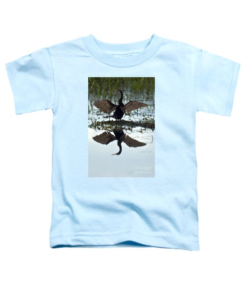 Anhinga Toddler T-Shirt by Mark Newman