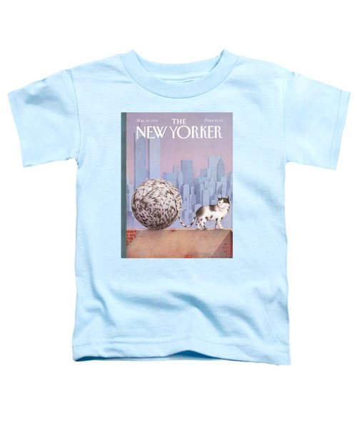 A Cat With A Ball Of String For A Tail Toddler T-Shirt